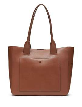 Leather Large East West Tote by Banana Republic