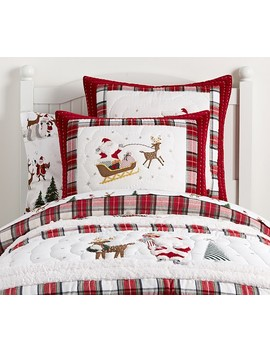 Merry Santa Quilt by Pottery Barn Kids