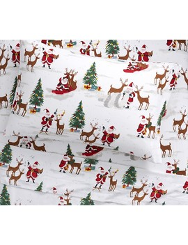 Organic Merry Santa Sheet Set by Pottery Barn Kids