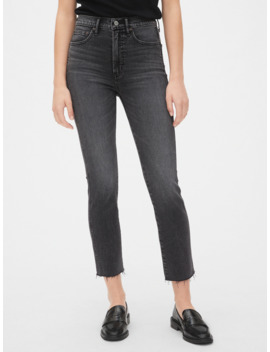 High Rise Cigarette Jeans With Secret Smoothing Pockets by Gap