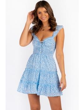 Arna Dress   Light Blue Print by Stelly