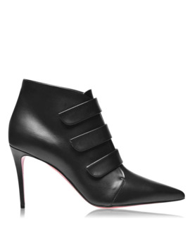 Triniboot 85 Leather Heeled Boots by Christian Louboutin
