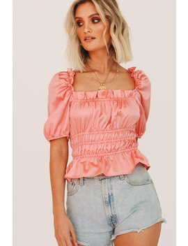 Portraits Of Fashion Frill Top // Pink by Vergegirl
