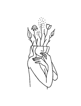 Flower Lady by Inkbox