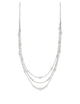 Rina Silver Multi Strand Necklace In Lustre Glass by Kendra Scott