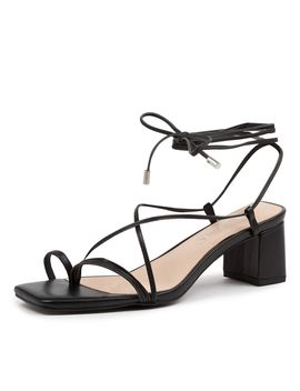 Sonia Heel Ss Black Leather by Sol Sana