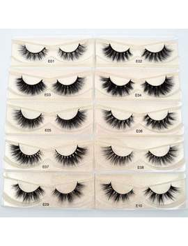 Visofree Eyelashes 3 D Mink Lashes Natural Handmade Volume Soft Lashes Long Eyelash Extension Real Mink Eyelash For Makeup E01 by Ali Express