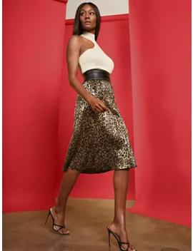 Metallic Leopard Midi Skirt by New York & Company