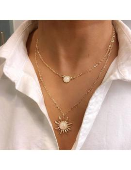 Sun Flower Opal Multi Layer Necklace by Dog Dog