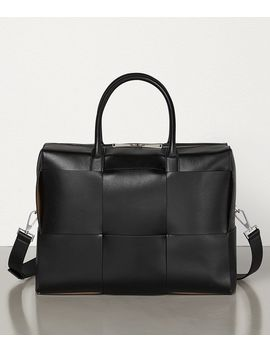 Briefcase In Urban Leather Calf by Bottega Veneta