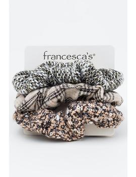Alli Tweed Scrunchie Set by Francesca's