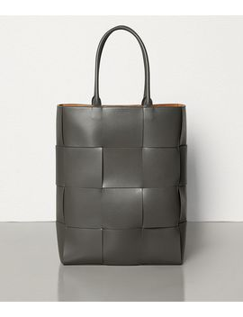 Tote In Urban Leather Calf by Bottega Veneta