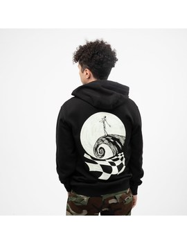 Mens Vans X The Nightmare Before Christmas Jack Skellington Hoodie   Black by Vans