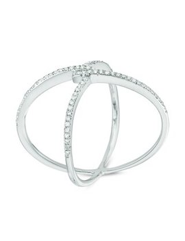 1/8 Ct. T.W. Diamond Orbit Ring In Sterling Silver by Online Exclusive Brilliant Value