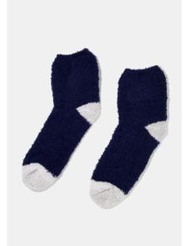 Fuzzy Two Tone Crew Socks by Miss A