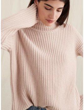Oversized Turtleneck In Cashmere Merino Wool by Alex Mill