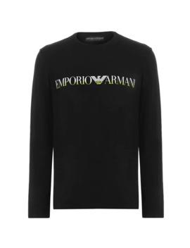 Long Sleeve Chest Logo T Shirt by Emporio Armani Underwear