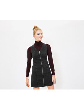 Zip Denim Shift Dress by Oasis