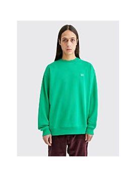 Acne Studios Forba Face Sweatshirt Emerald Green by Très Bien