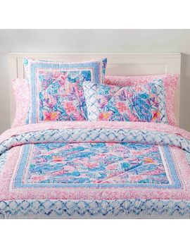 Lilly Pulitzer Slathouse Soiree Patchwork Quilt + Sham by P Bteen