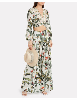 tropical-cropped-wrap-top by patbo