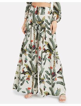 tropical-print-wide-leg-pants by patbo