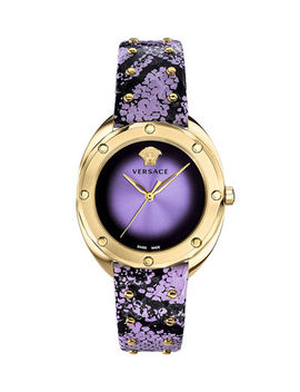 versace-38mm-shadov-leather-watch,-gold_purple by versace