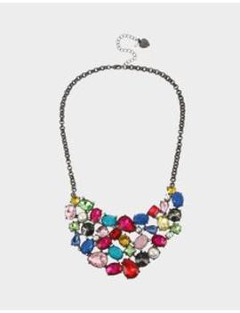 Bling Thing Bib Necklace Rainbow Multi by Betsey Johnson