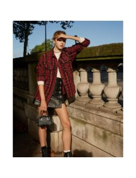 Tweed Red Check Overshirt by The Kooples