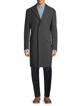 plaid-wool-&-cashmere-blend-top-coat by saks-fifth-avenue-made-in-italy