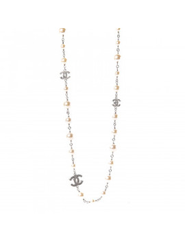 chanel-graduated-pearl-crystal-cc-long-necklace-silver-pearly-white by chanel