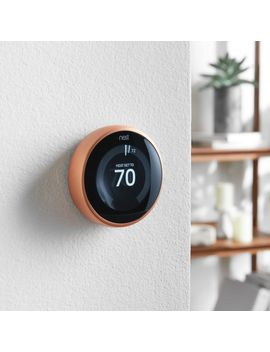 Google Nest Copper Thermostat by Crate&Barrel