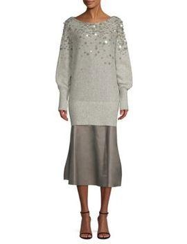 dolman-pailette-sweater by lafayette-148-new-york