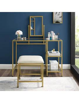 aimee-2-piece-vanity-and-mirror-set-gold by mercer41