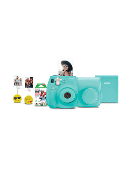 fujifilm-instax-mini-7s-instant-camera-w_-matching-case,-film,-photo-album-&-photo-holders---seafoam-green by fujifilm