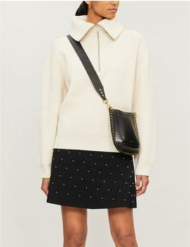 pearl-embellished-stretch-knit-mini-skirt by sandro