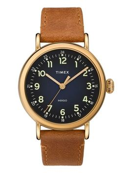 Timex® Standard 40mm Leather Strap Watch by Timex