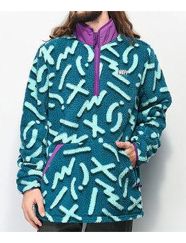 neff-rink-blue-&-purple-tech-fleece-jacket by neff