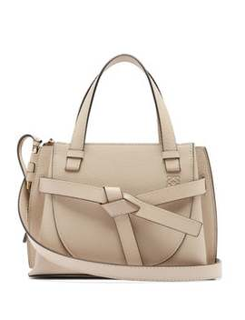 gate-mini-grained-leather-top-handle-bag by loewe