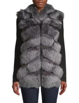 natural-silver-fox-fur-&-leather-vest by belle-fare