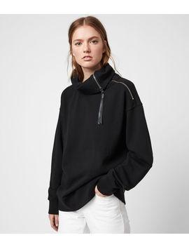 bella-zip-sweatshirt by allsaints