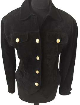 black-carlisle-suede-jacket-gold-buttons by etsy