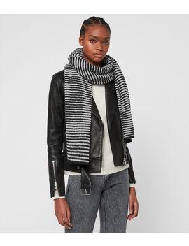 Striped Wool Blend Scarf by Allsaints