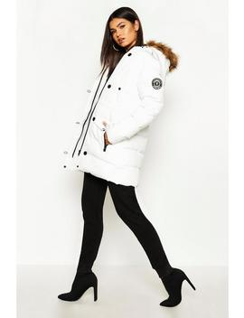 Luxe Mountaineering Parka by Boohoo