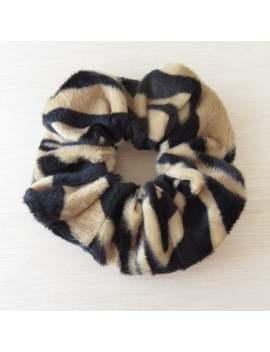 tiger-faux-fur-scrunchie---hair-scrunchies---handmade-scrunchy by etsy