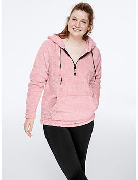 Teddy Half Zip Pullover by Pink