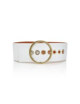 grommet-embellished-leather-belt by maison-boinet