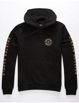 brixton-oath-black-mens-hoodie by brixton