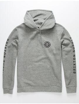 brixton-oath-gray-&-black-mens-hoodie by brixton