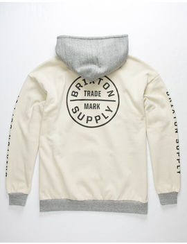brixton-oath-iv-off-white-mens-hoodie by brixton